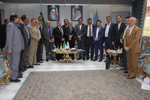 امضای تفاهم نامه همکاری مشترک بین اتاق تعاون استان همدان و اتاق بازرگانی اربیل عراق