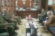 دیدار امیران عالی رتبه ارتش با رئیس اتاق تعاون کرمانشاه
