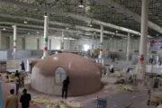 روند آماده سازی غرفه ها در نمایشگاه بین المللی عمران و ساختمان کیش