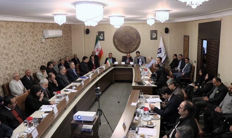 گزارش تصویری دیدار تعاونگران با معاون بیمهای سازمان تامین اجتماعی در اتاق تعاون ایران