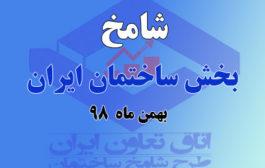 شامخ بهمن ماه منتشر شد/ بهبود وضعیت بخش ساختمان در بهمن