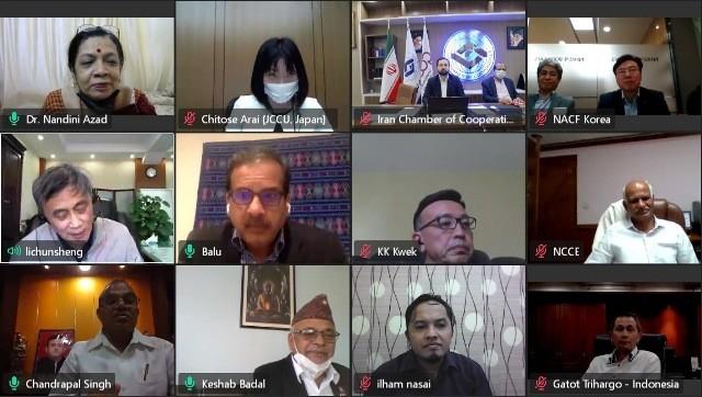 اولین جلسه هیات مدیره اتحادیه بینالمللی تعاون در منطقه آسیا و اقیانوسیه آنلاین برگزار شد