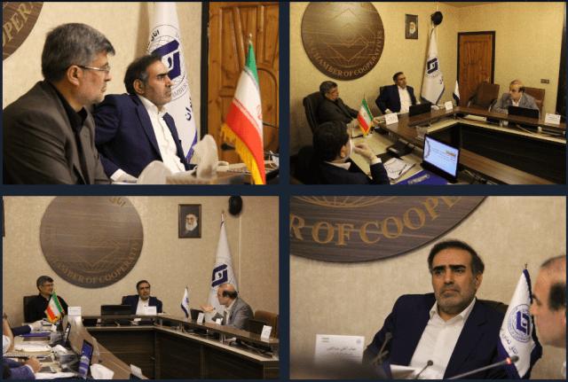 گزارش تصویری نشست مشترک معاون پیشگیری از وقوع جرم قوه قضائیه با رئیس اتاق تعاون